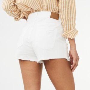 NWT White Ripped Cutoff High Waist Jean Shorts 4